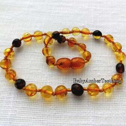 """Cherry and honey love"" amber necklace"