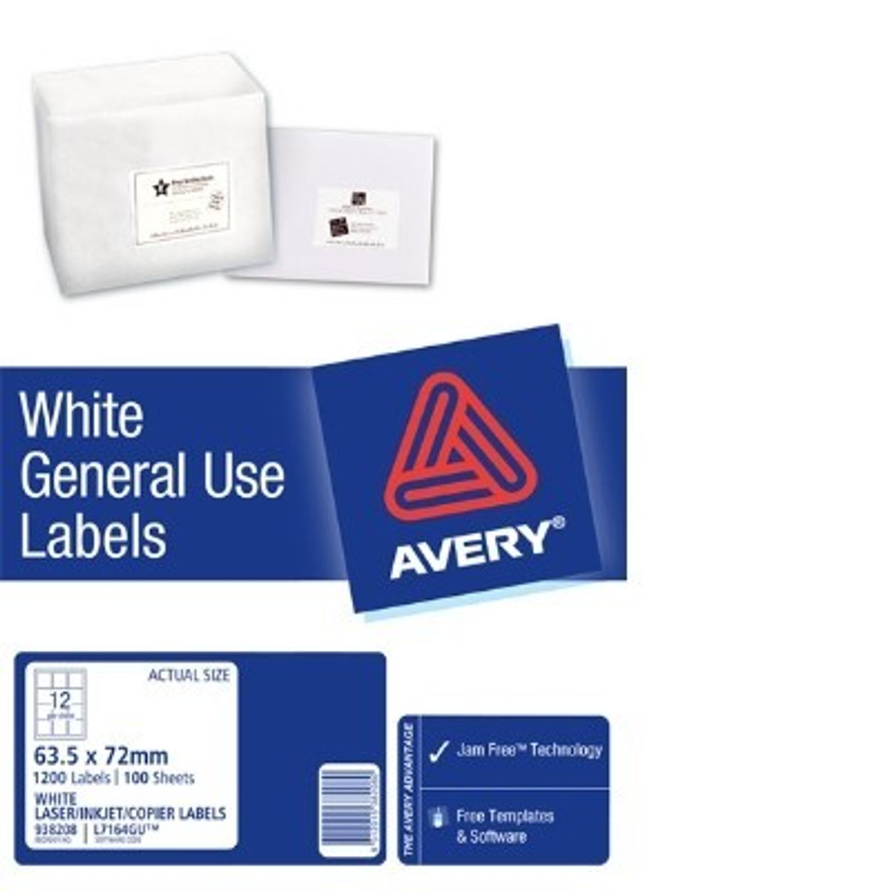 AVERY GENERAL USE LABELS L7164 12 LABELS/SHEET