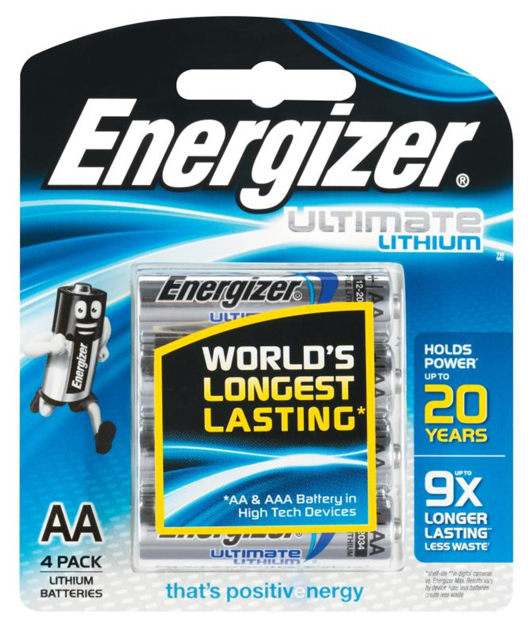 ENERGIZER AA LITHIUM BATTERY  PKT 4
