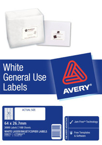 AVERY GENERAL USE LABELS L7158 30 LABELS/SHEET