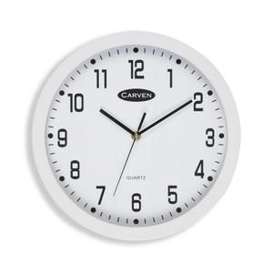CARVEN WALL CLOCK WHITE 30CM