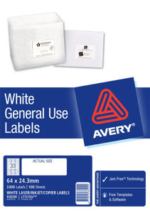 AVERY GENERAL USE LABELS L7157 33 LABELS/SHEET