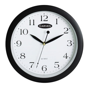 CARVEN WALL CLOCK Black 30CM