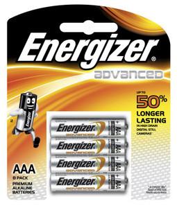 ENERGIZER AAA ALKALINE ADVANCED BATTERY  PKT 8