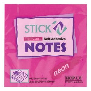 Adhesive Note 76x76mm Neon Magenta