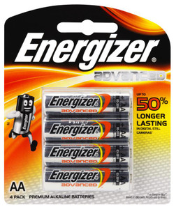 ENERGIZER AA ALKALINE ADVANCED BATTERY  PKT 4
