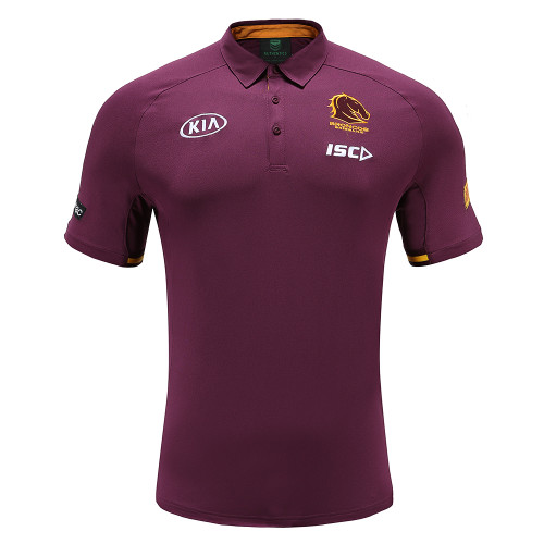 Brisbane Broncos 2020 MENS MEDIA POLO