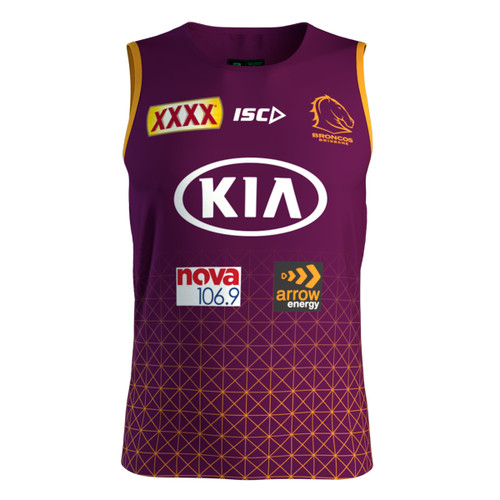 Brisbane Broncos 2020 MENS TRAINING SINGLET