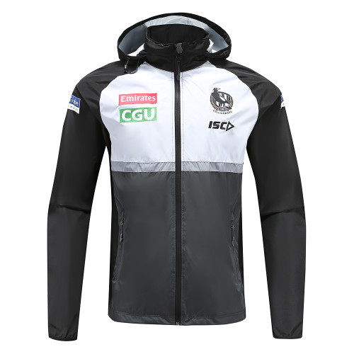 Collingwood Magpies 2020 WOMENS WET WEATHER JACKET