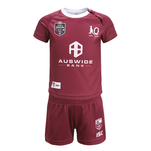 Queensland Maroons 2020 TODDLER MAROON JERSEY SET