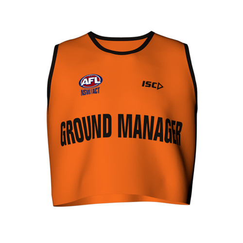 AFL Sydney Ground Manager Bib by ISC Sport
