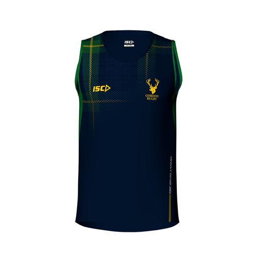 Gordon Rugby Training Singlet Mens Made by ISC Sport