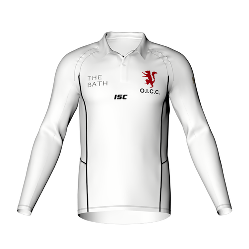 Old Ignatians Elite Cricket Polo long sleeve Mens designed by ISC Sport