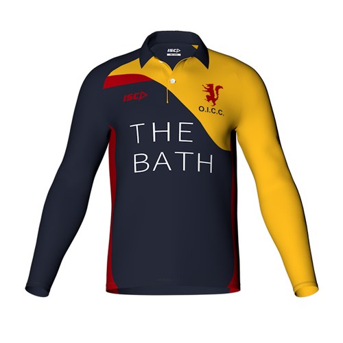 Old Ignatians long sleeve Cricket Polo Mens designed by ISC Sport
