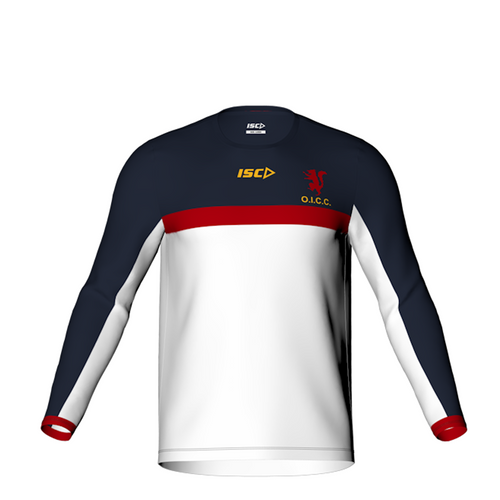 Old Ignatians Cricket Club long sleeve men's training t-shirt by ISC Sport