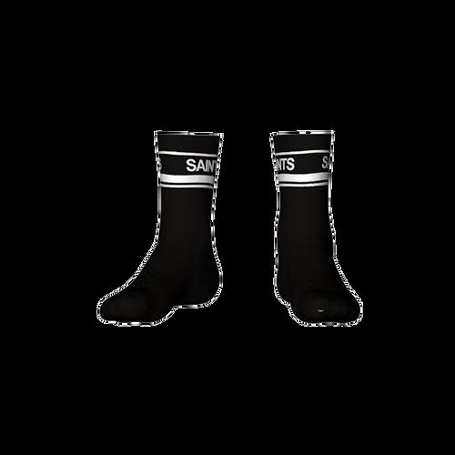 St Marys Calf Socks Black/White