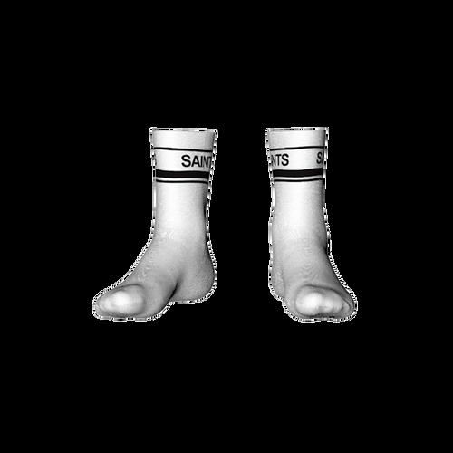 St Marys Calf Socks White/Black
