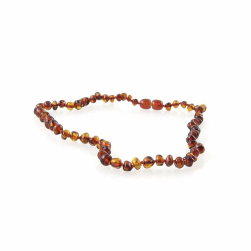 Genuine Baltic Amber Polished Round Butterscotch Children's Amber Necklace