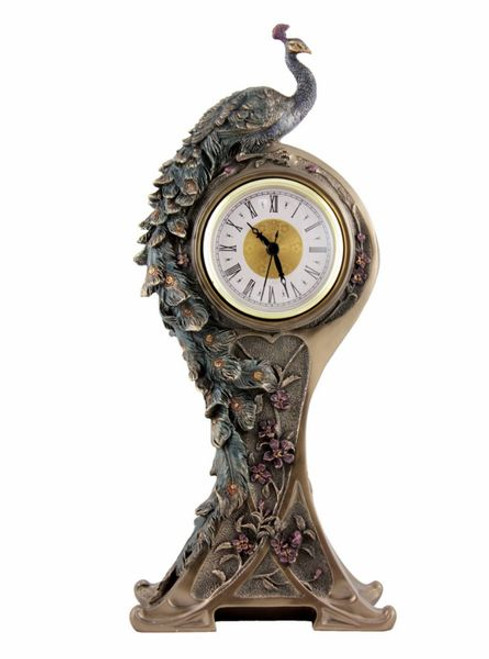 Peacock Table Clock