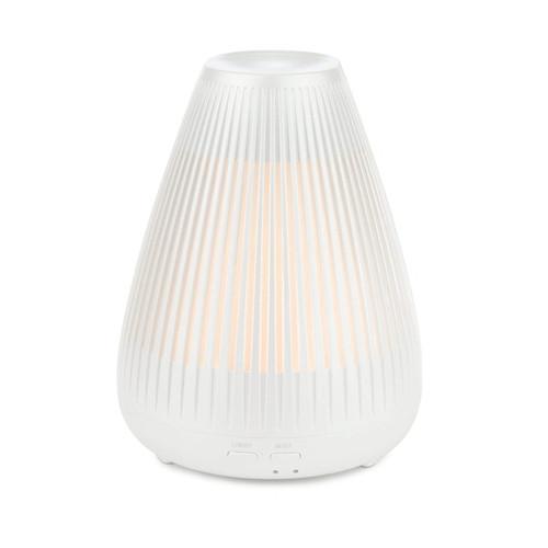 Aroma-Flare Metallic White Ultrasonic Essential Oil Diffuser