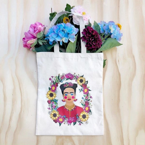 The Quirky Cup Collective Frida Kahlo Tote Bag