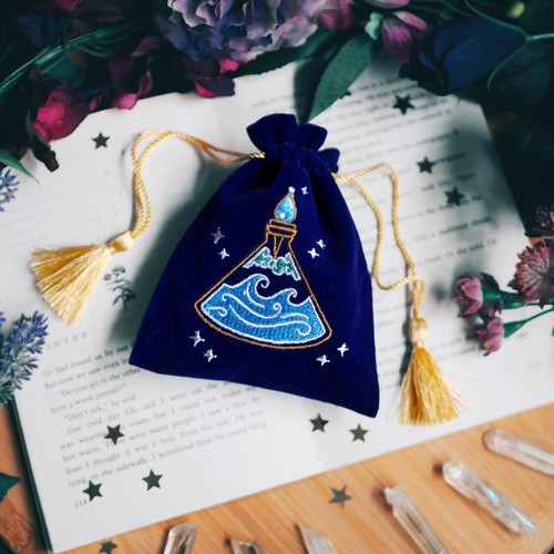 The Quirky Cup Collective Calming Potion Bottle Trinket Pouch