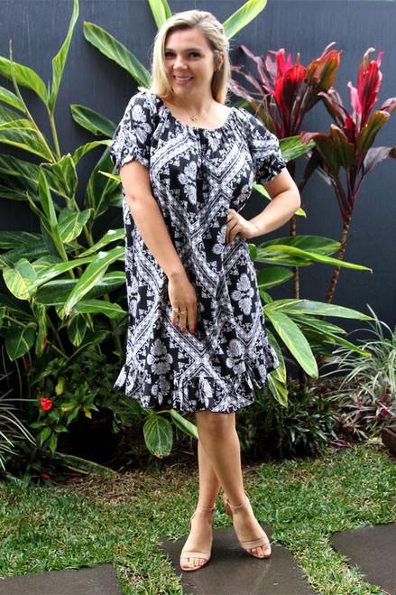 Crossover Black Diva Dress