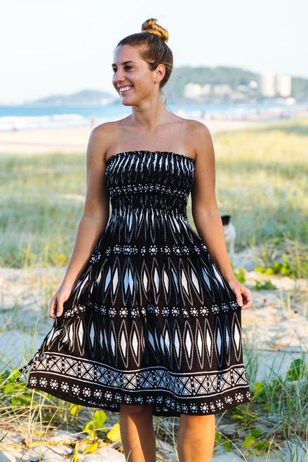 Tiffany Black Smock Dress