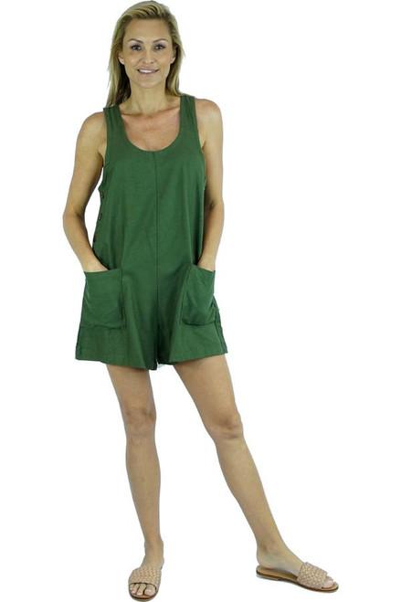 Tropics Olive Jumpsuit