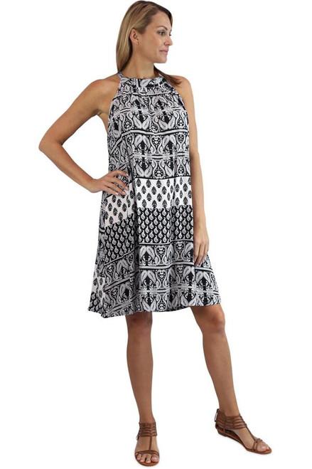 Sundrenched Shanti Black Short Chloe Dress