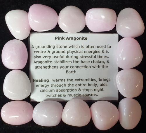 Pink Aragonite Tumble Stone