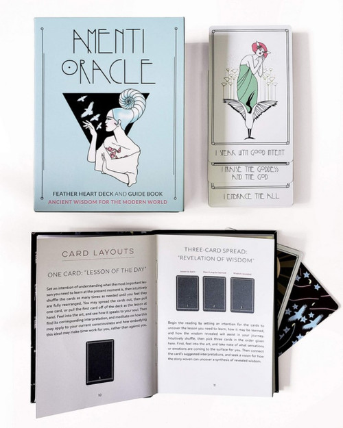 Amenti Oracle Feather Heart Deck & Guide Book by Jennifer Sodini