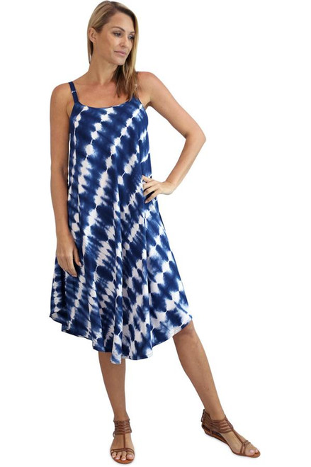 Montego Dress Navy Shibori