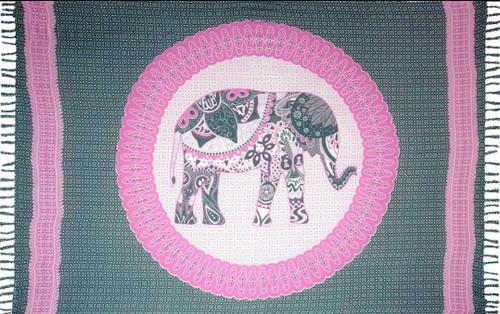 Boho Elephant Grey Sarong