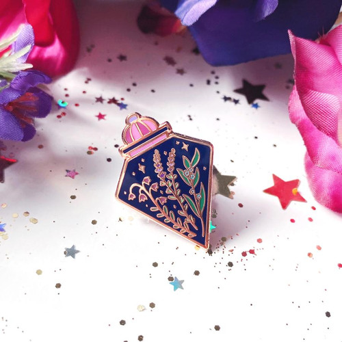 Botanical Potion Bottle Enamel Pin