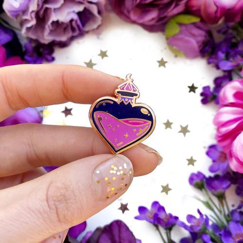 Love Potion Bottle Enamel Pin