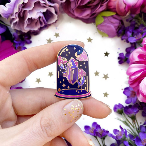 Crystal Dome Enamel Pin