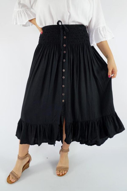 Tangelo Black Skirt