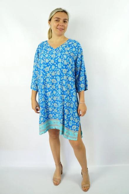 3/4 Sleeve Juliet Blue Tunic