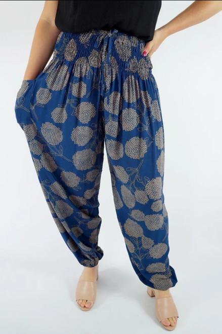 Harem Pants Navy Marigold