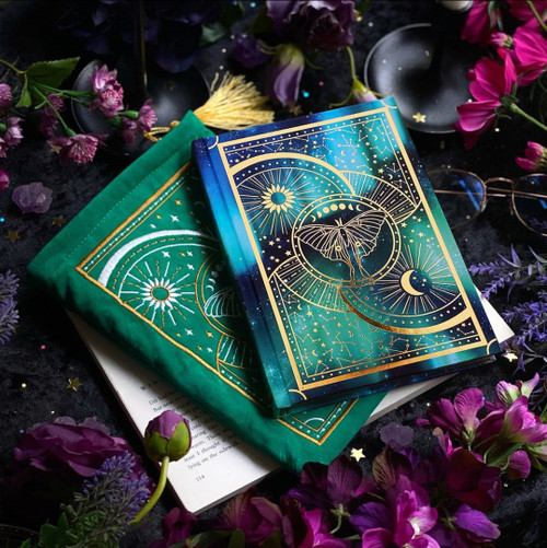 Lune Moth Journal and Book Sleeve Set