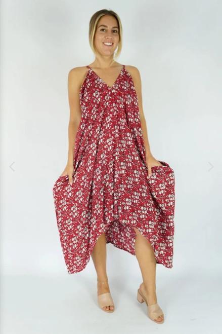 Festival Red Blossom Dress