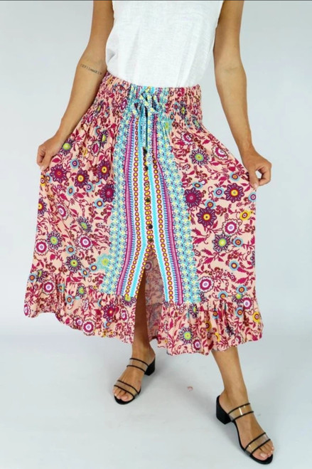 Tangelo Cream Sangria Skirt