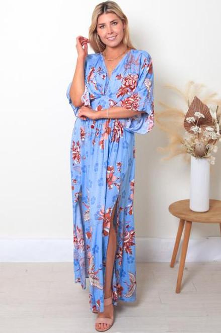 Helena V-Neck Maxi Dress