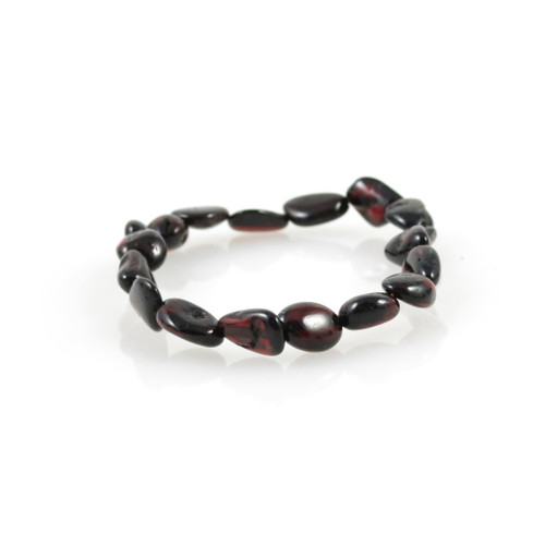 Genuine Baltic Amber Oval Cherry Women's Bracelet