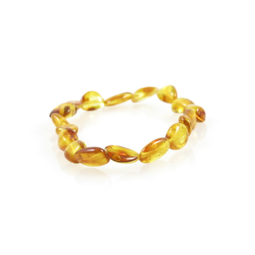 Genuine Baltic Amber Oval Honey Women's Bracelet