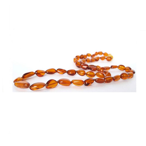 Genuine Baltic Amber Polished Oval Butterscotch Women's Necklace