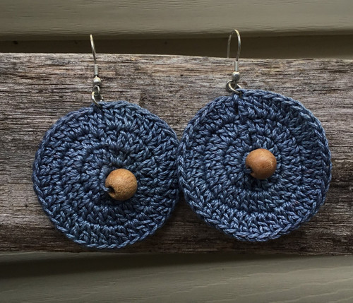 Fair Trade, Ethical Tatted Earrings - Blue