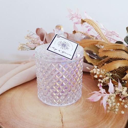 Luxe Crystal Jar - Pearl - African Violet