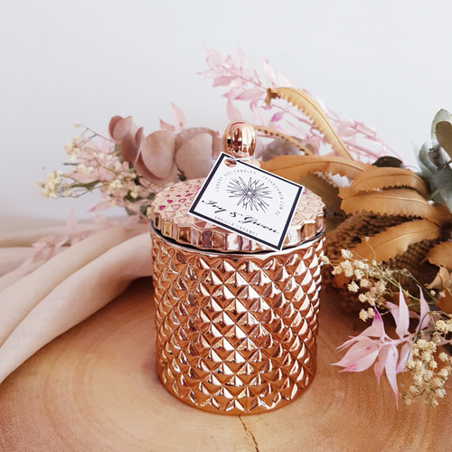 Luxe Crystal Jar - Rose Gold - Daisy